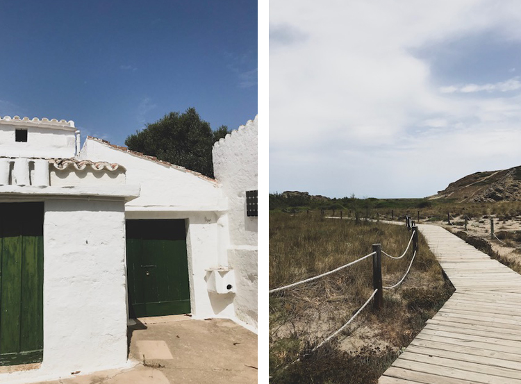 Our Airbnb in Mahon and the path to paradise: Sa Mesquita beach