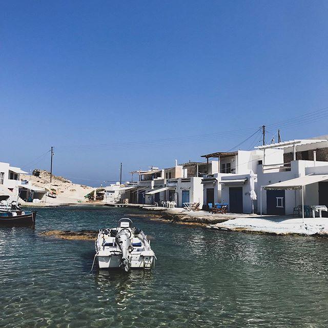Klimata, fishermen's houses by the sea