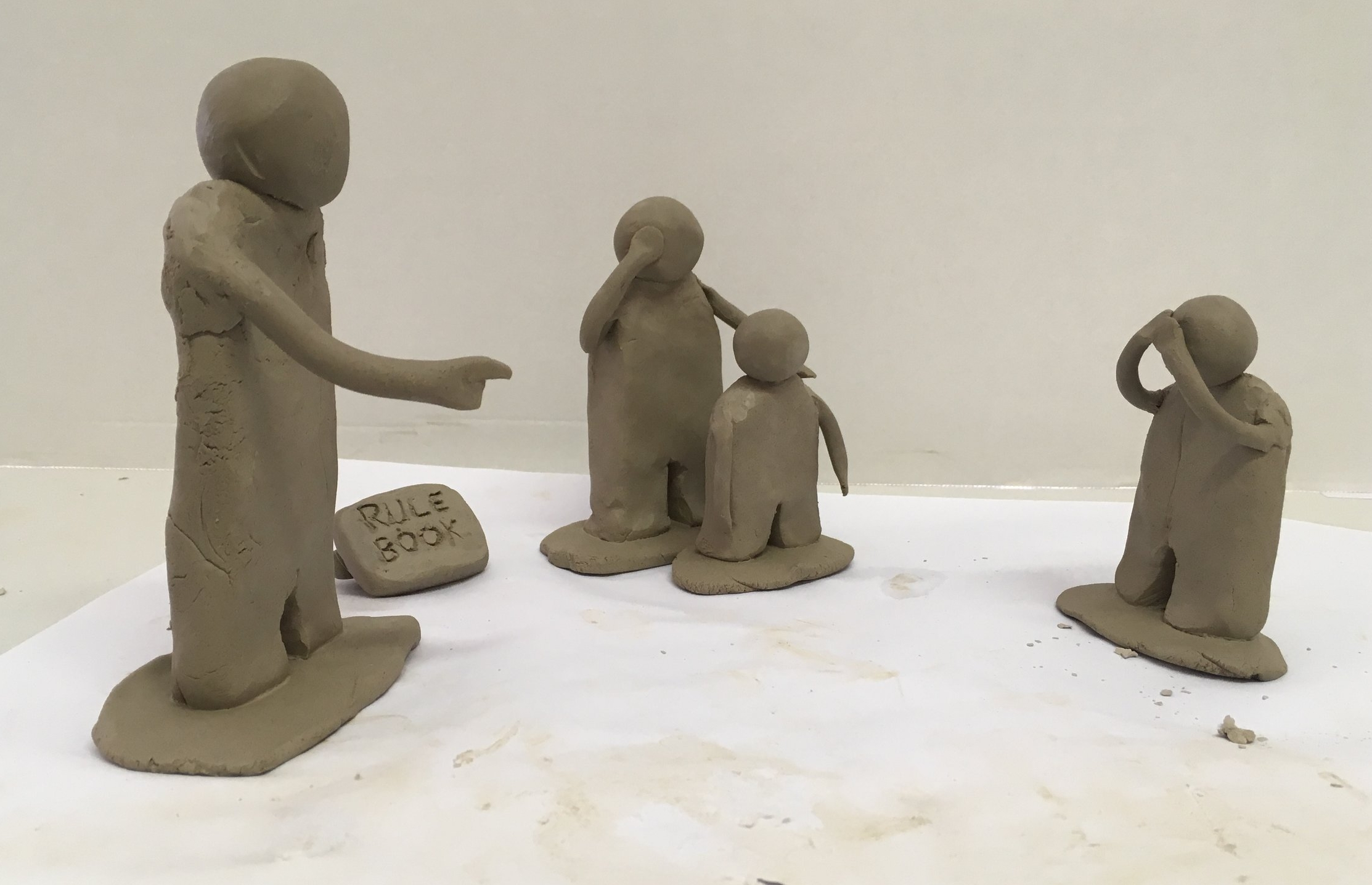 A clay-work of a family memory