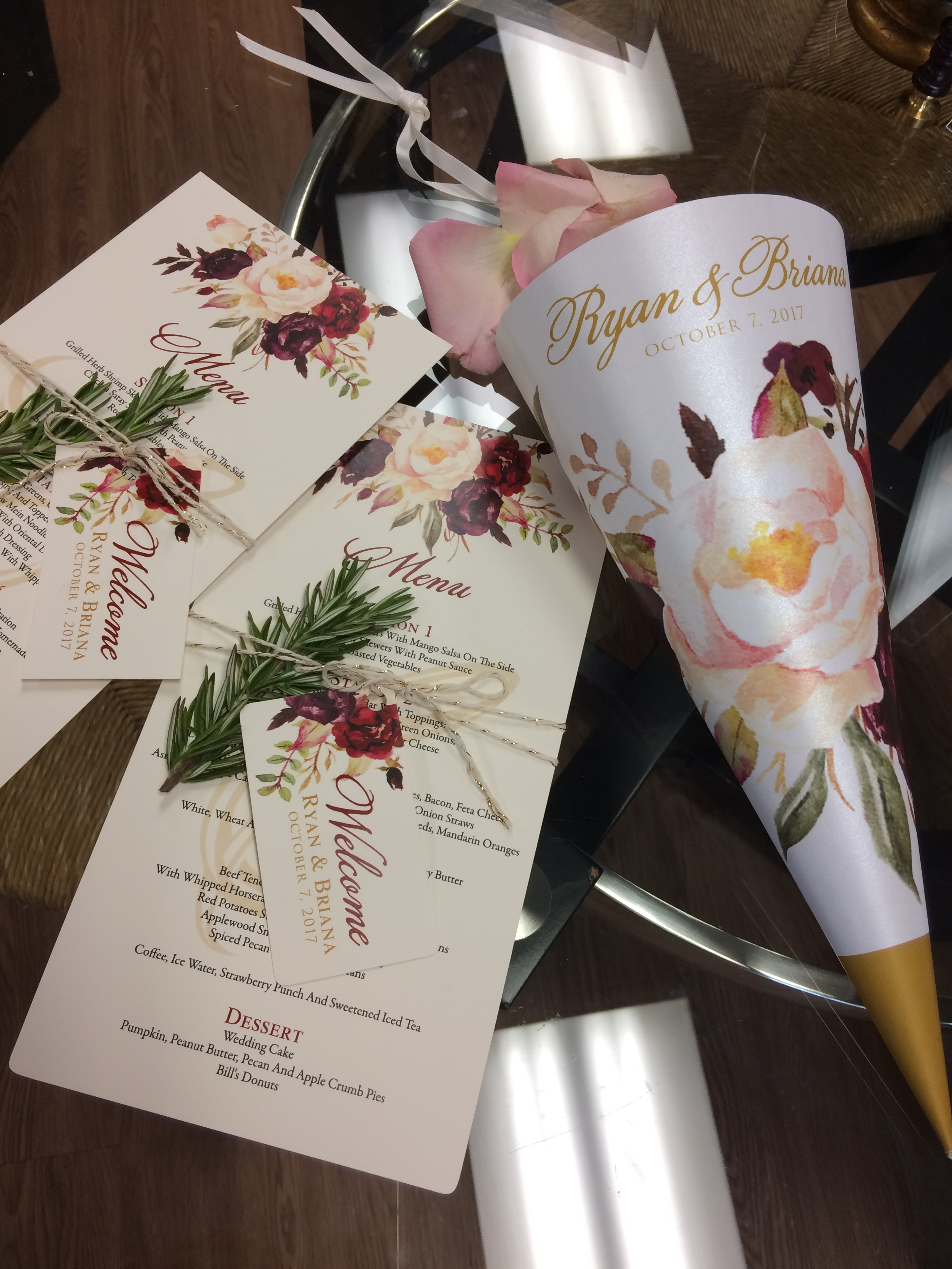 wedding-day of-menu-flower cones-custom.JPG