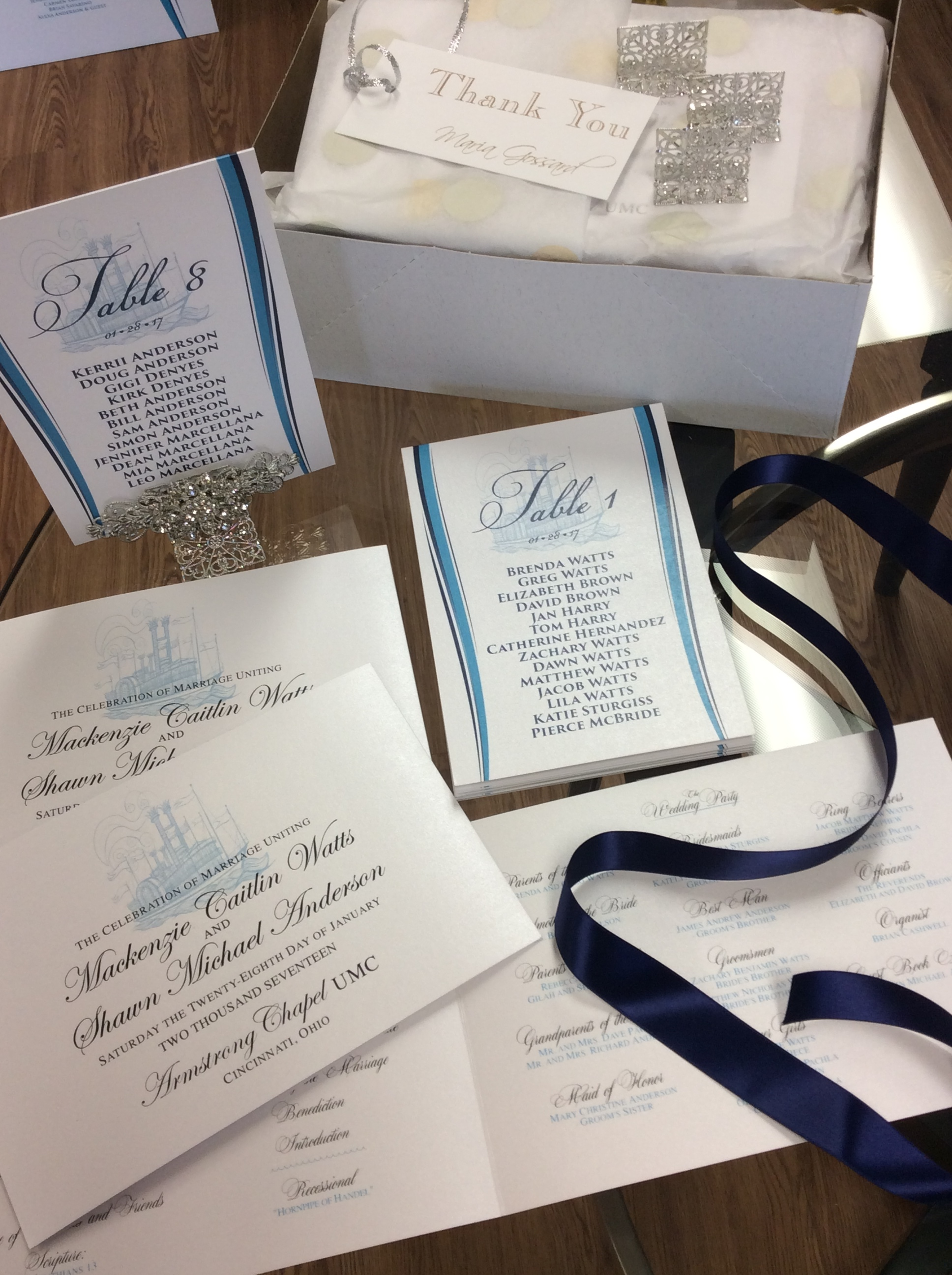 wedding-day of-table-number-nautical-program-blue-ribbon-custom.JPG