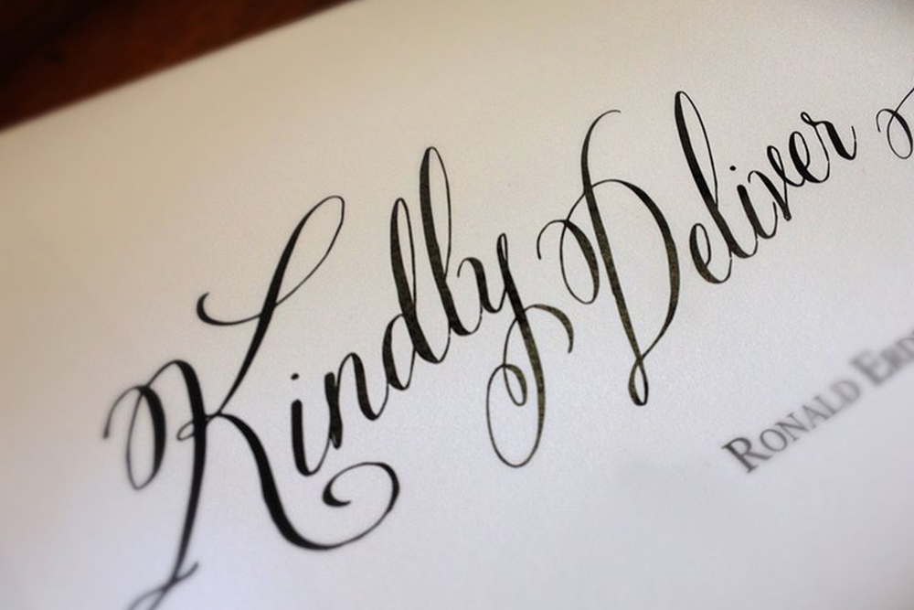 Calligraphy - We offer both hand calligraphy or digital calligraphy options, providing both an elegant and polished look to your printed items. Digital calligraphy can also be used on acrylic or other mediums like shirts.