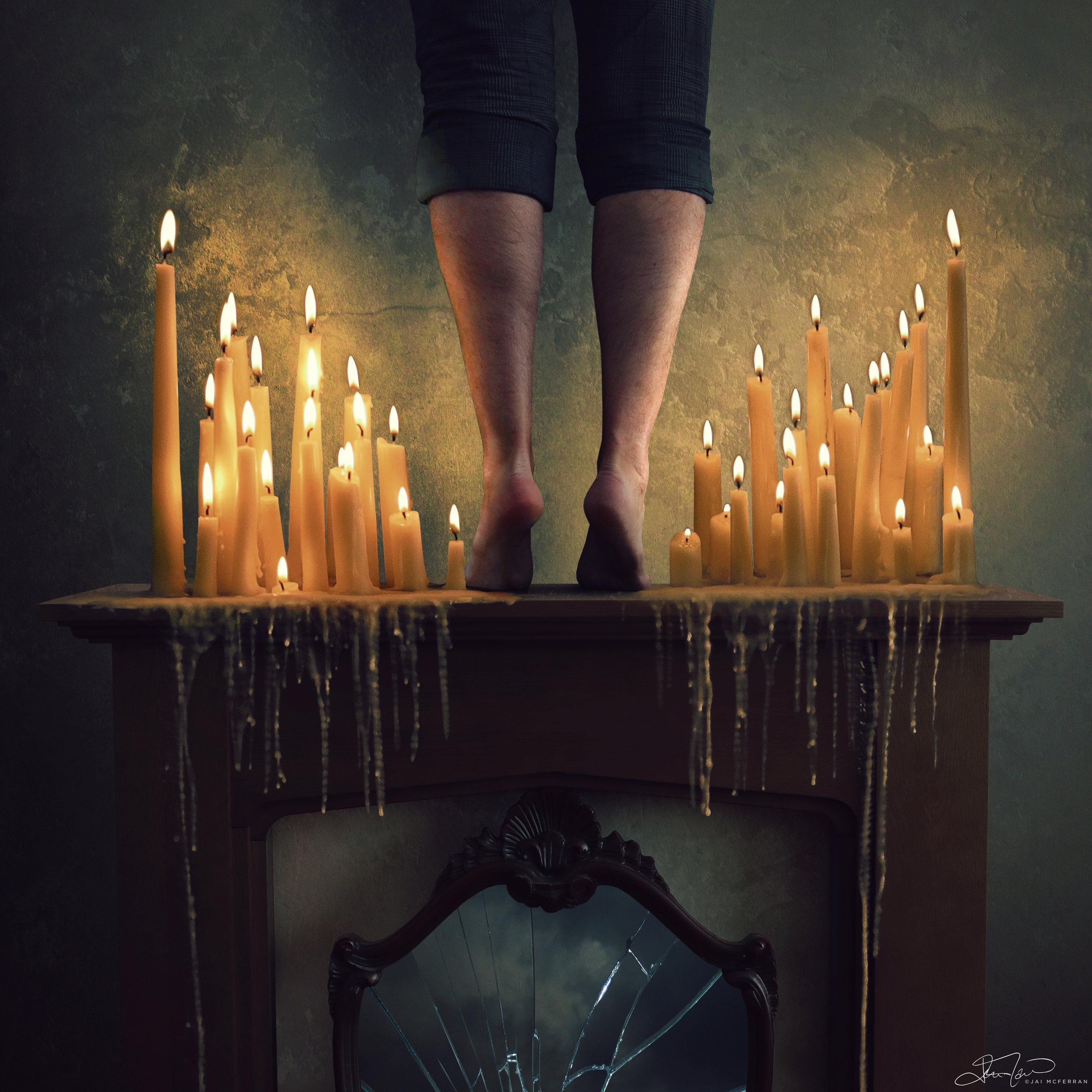 """Difference in colours between """"At the Candle's End"""" and """"I'd Give My Heart""""."""