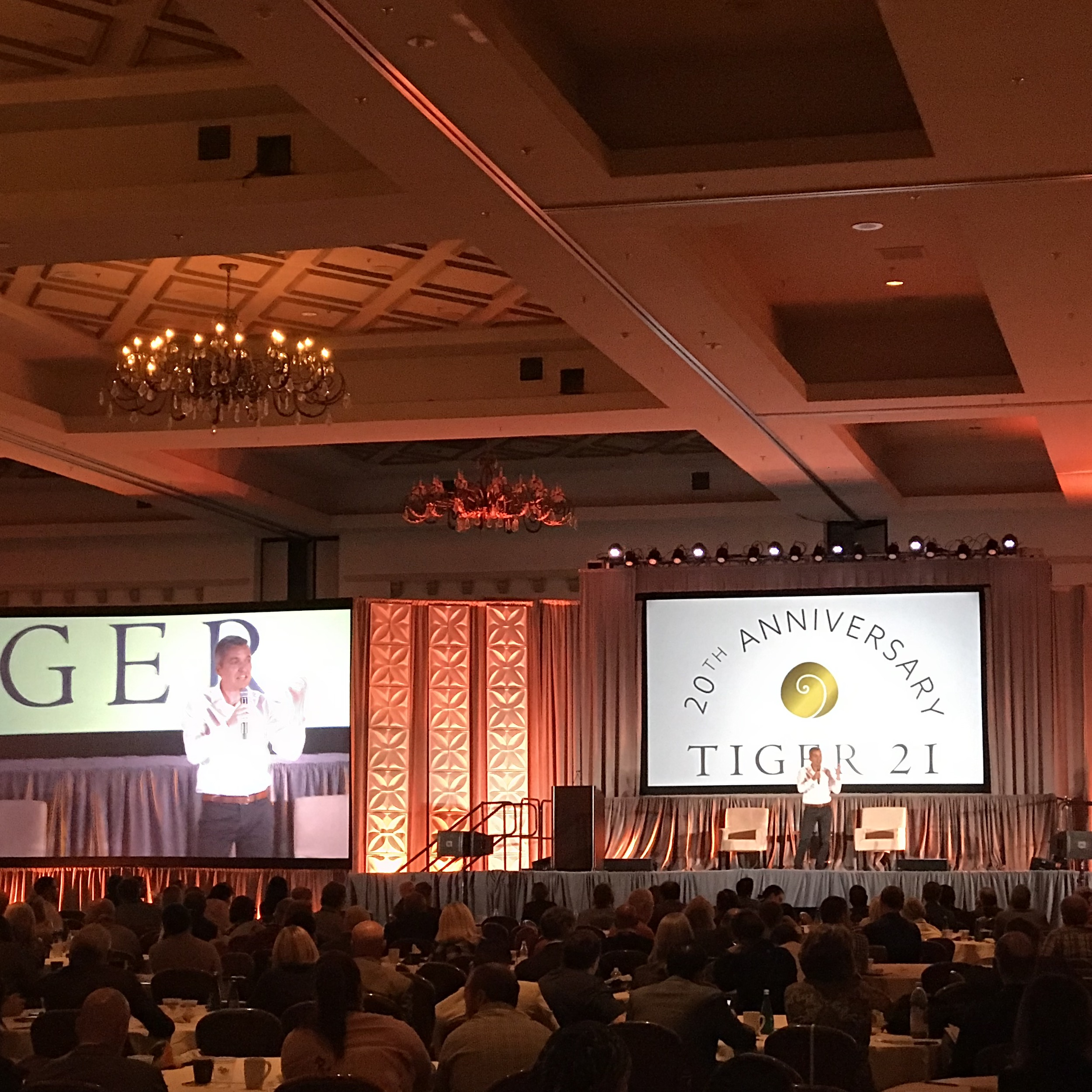 Gregor Jeffrey delivers his keynote at the TIGER 21 Annual Conference - Boca Raton, Florida