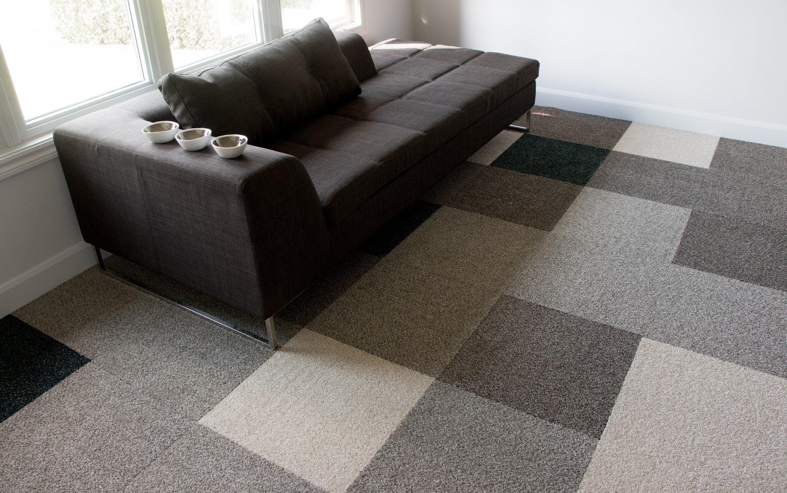 Harmony carpet tile — Full pattern installation