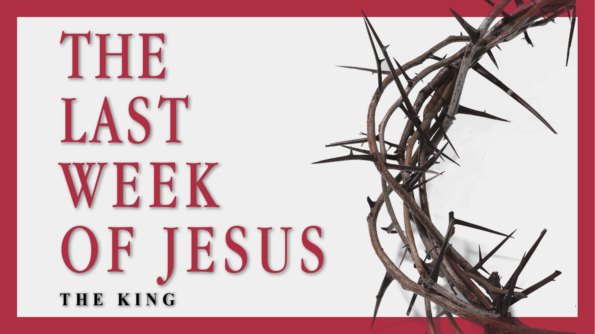 We will prepare to celebrate Easter by taking a closer look at the days of Christ's life just before his crucifixion and resurrection. We will explore and learn how Jesus' teachings and actions in those last moments can motivate our passion for living in our Savior's footsteps.