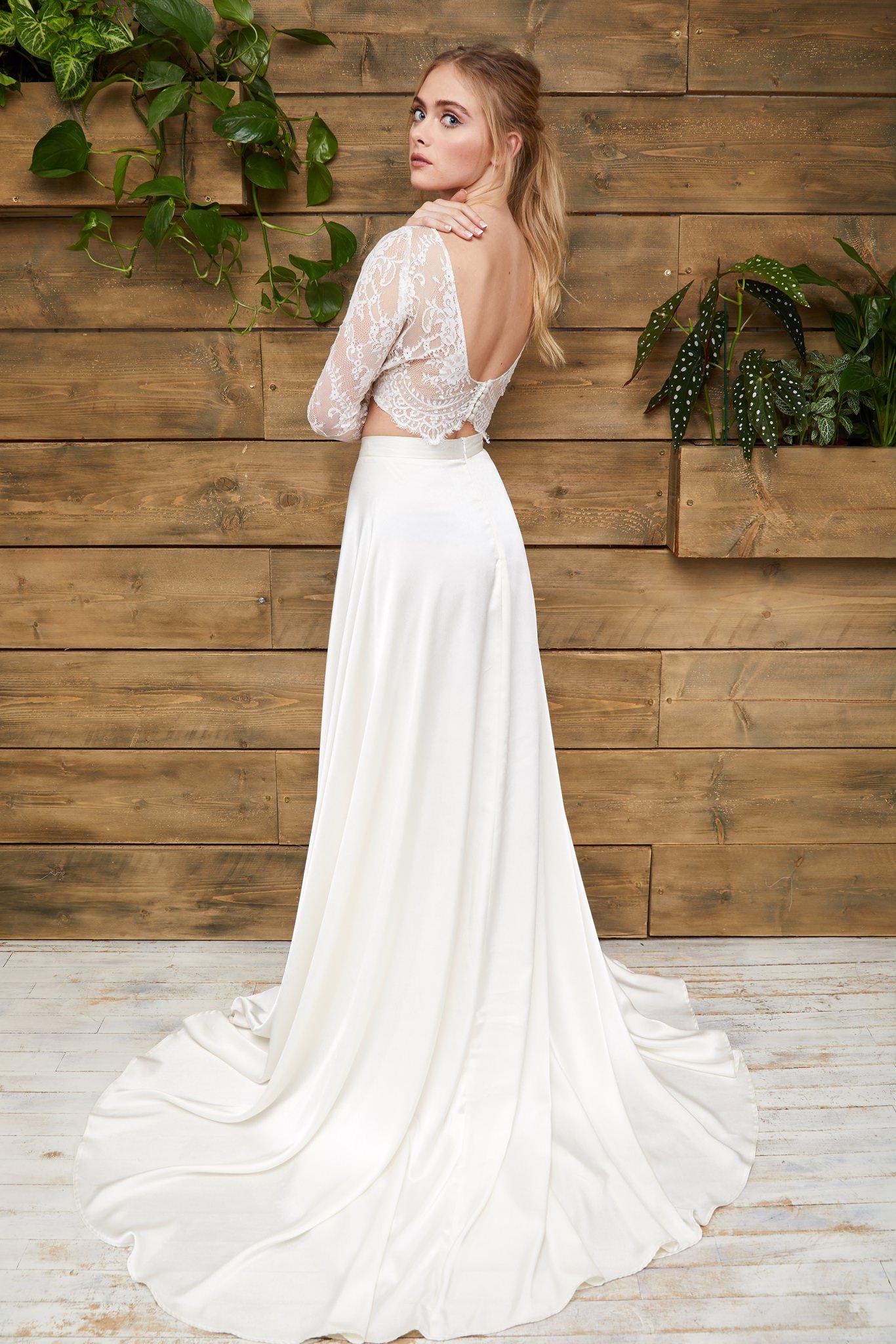 Rachel Burgess Bridal Boutique - Effy Crop & Olive Skirt (back).jpg