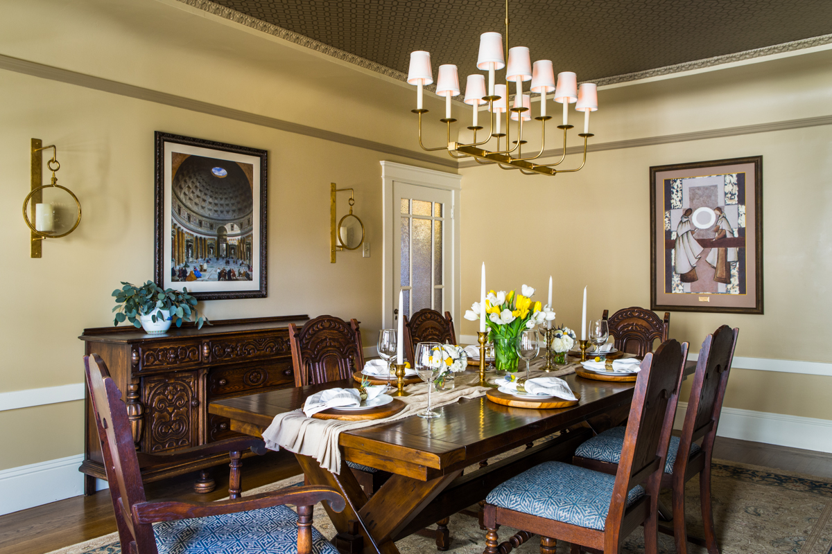 Potrero Hill Traditional Dining Room with Antiques - San Francisco, California