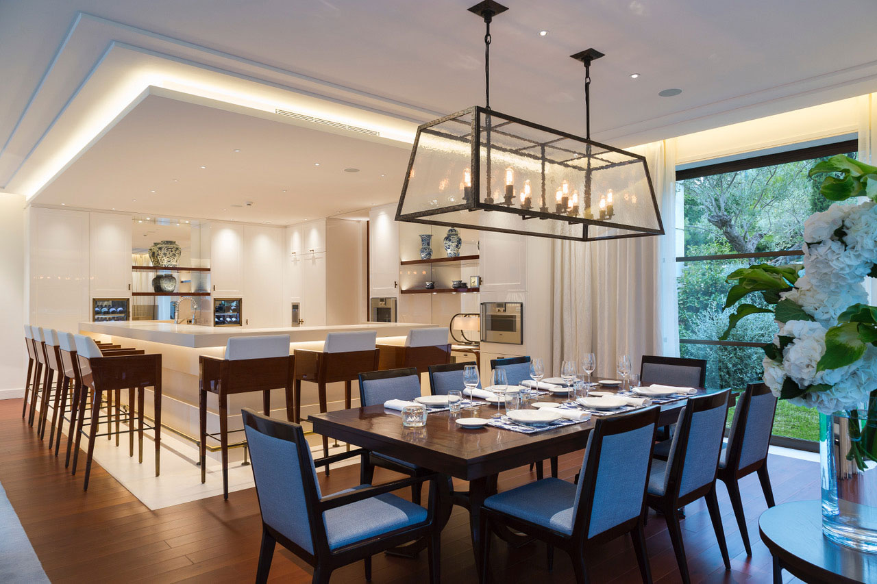 Dining Room and Kitchen - St. Jean Cap Ferrat, France