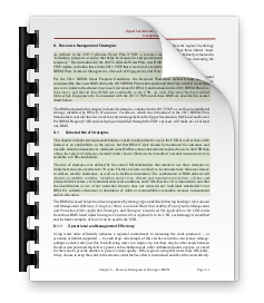 Chapter 8 - Resource Management Strategies