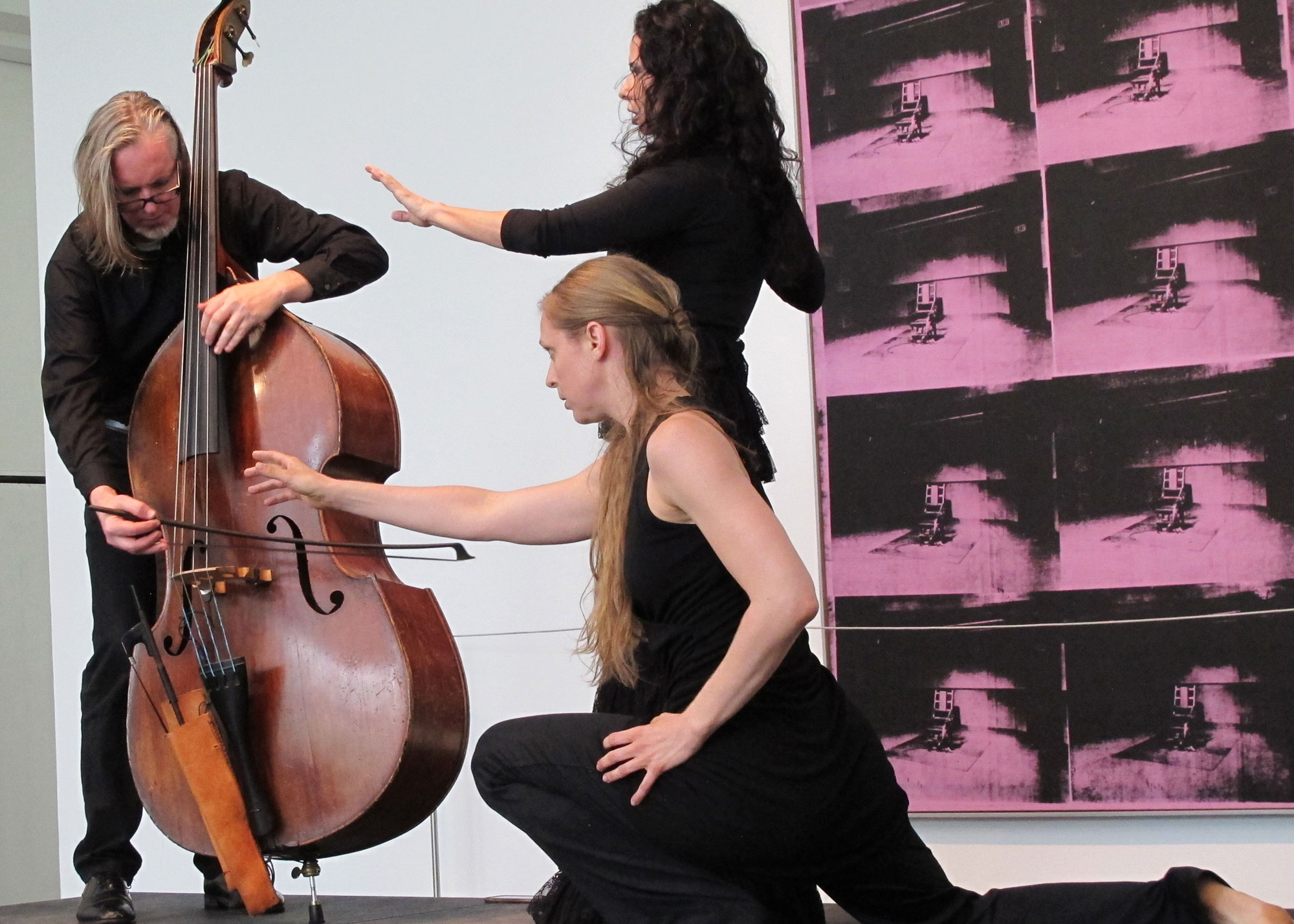 Siren on the Sabine. Misha Penton, soprano, concept text, artistic direction. Thomas Helton, double bass. Music devised by Misha Penton and Thomas Helton. Toni Valle and Lindsey McGill, dancers