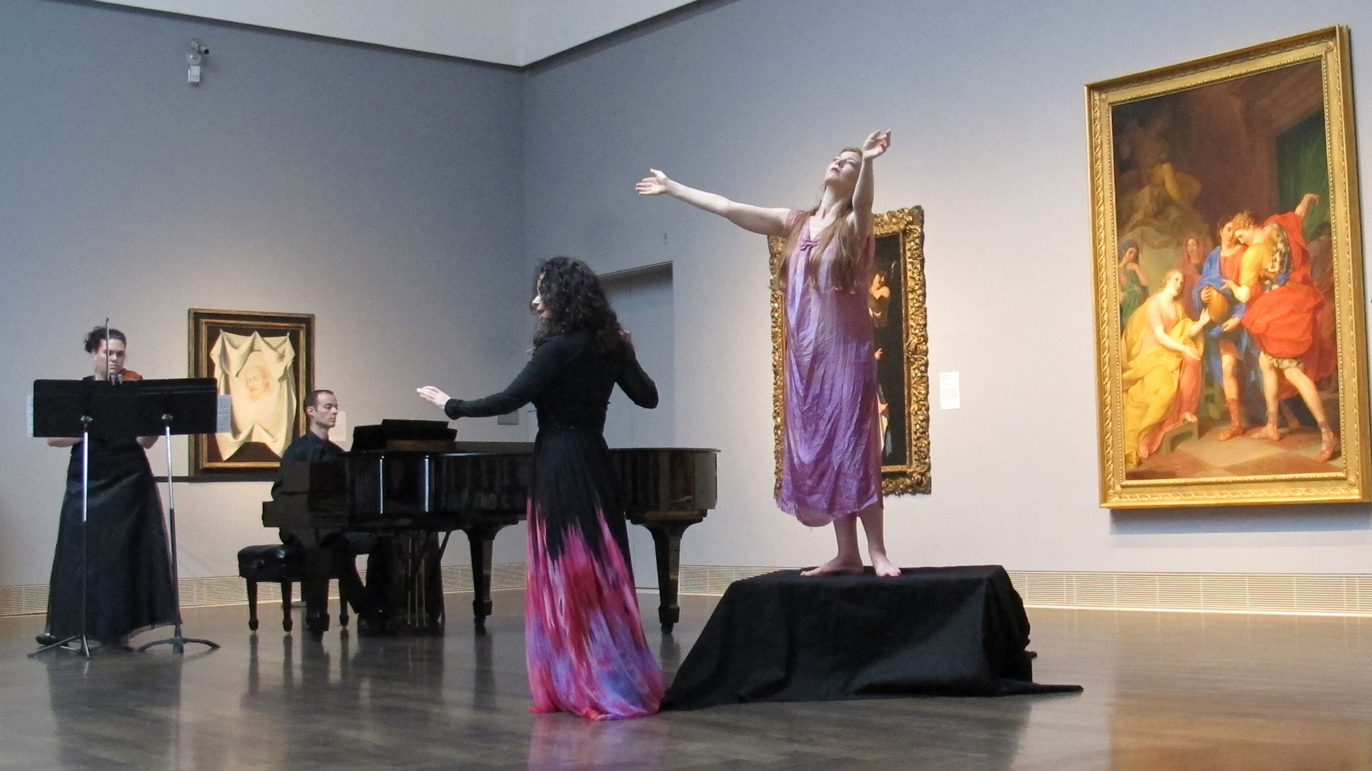 Klytemnestra.Misha Penton, soprano, artistic director, concept and libretto.A new chamber opera with music by Dominick Diorio. Meredith Harris, viola. Kyle Evans, piano. Meg Brooker, dancer.