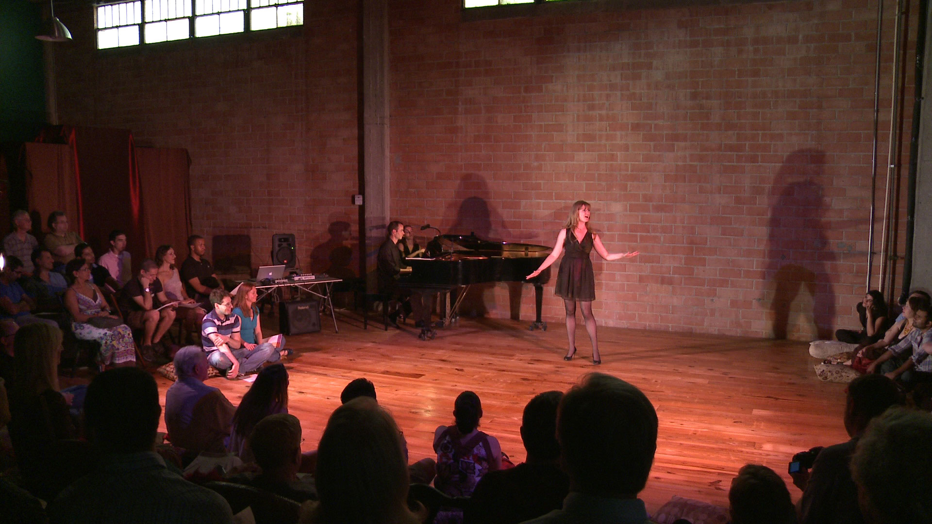 Opening Soiree for Divergence Music & Arts. Performers include singers Misha Penton, Alison Greene, Natasha Manley, Shelley Auer, Lainie Diamond, Michael Walsh and Dennis Arrowsmith; pianists Kyle Evans and Jade Simmons; pianist and composer, Hsin-Jung Tsai; composer, Chris Becker; dancer, Meg Brooker; and actress Amy Guerin
