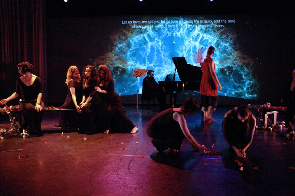 The 10th Muse. Misha Penton, soprano, concept, director. Alison Greene, Michael Walsh, Shelley Auer, Dennis Arrowsmith, Jill Alexander Essbaum, Kade Smith, with Stephen Jones, piano, et al. Photos: David A. Brown.
