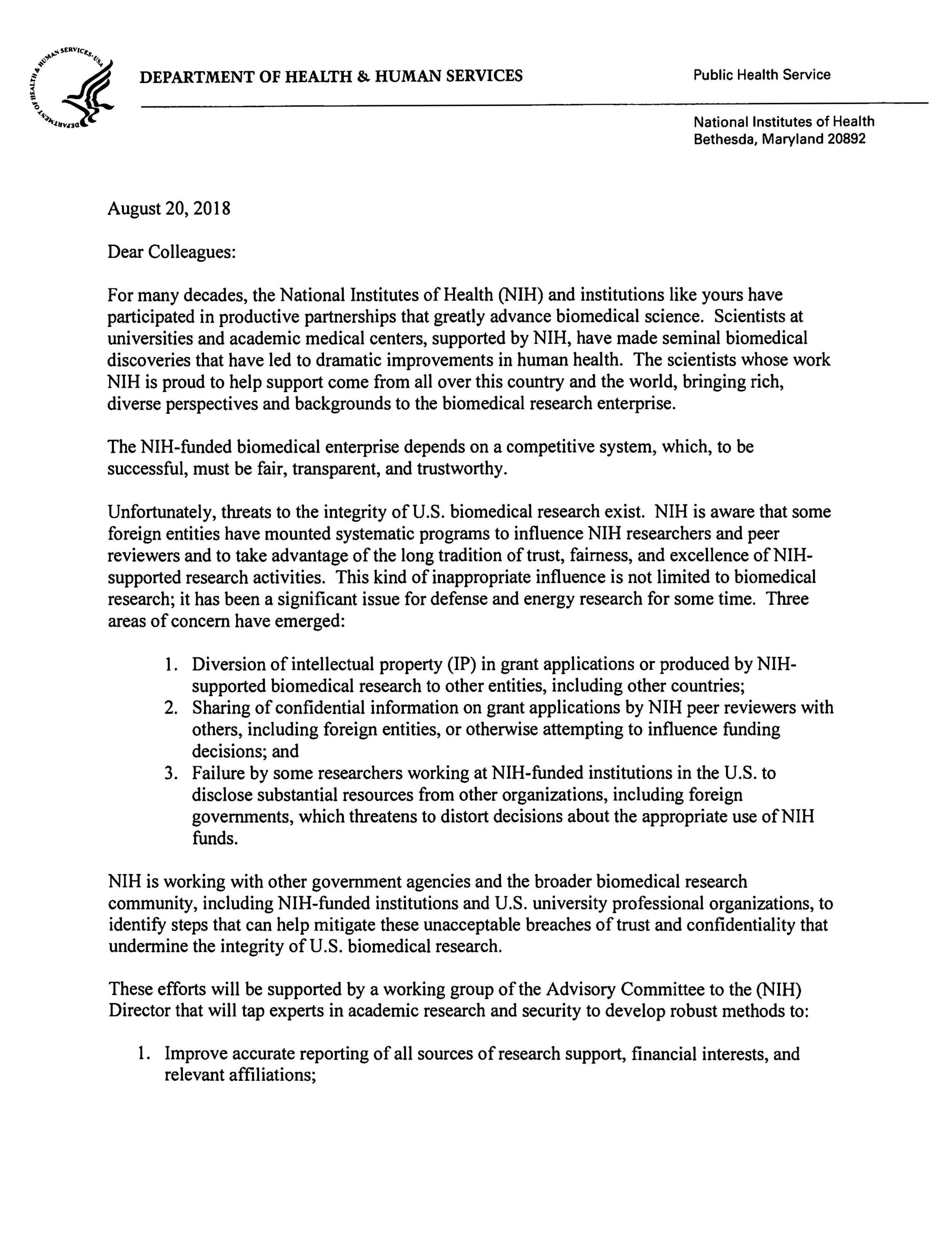 NIH Foreign Influence Letter to Grantees 08-20-18 jpeg_Page_1.jpg