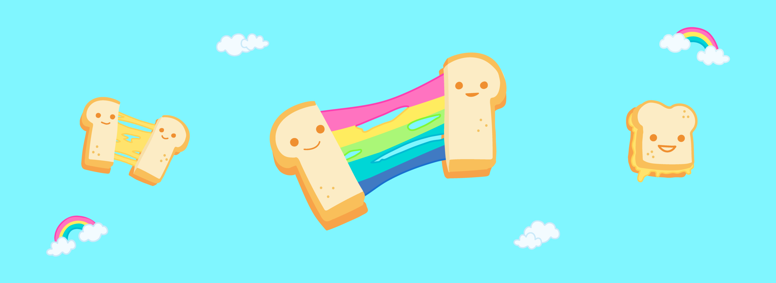 Rainbow Grilled Cheese — Inspired by a popular snack in Harajuki, Tokyo