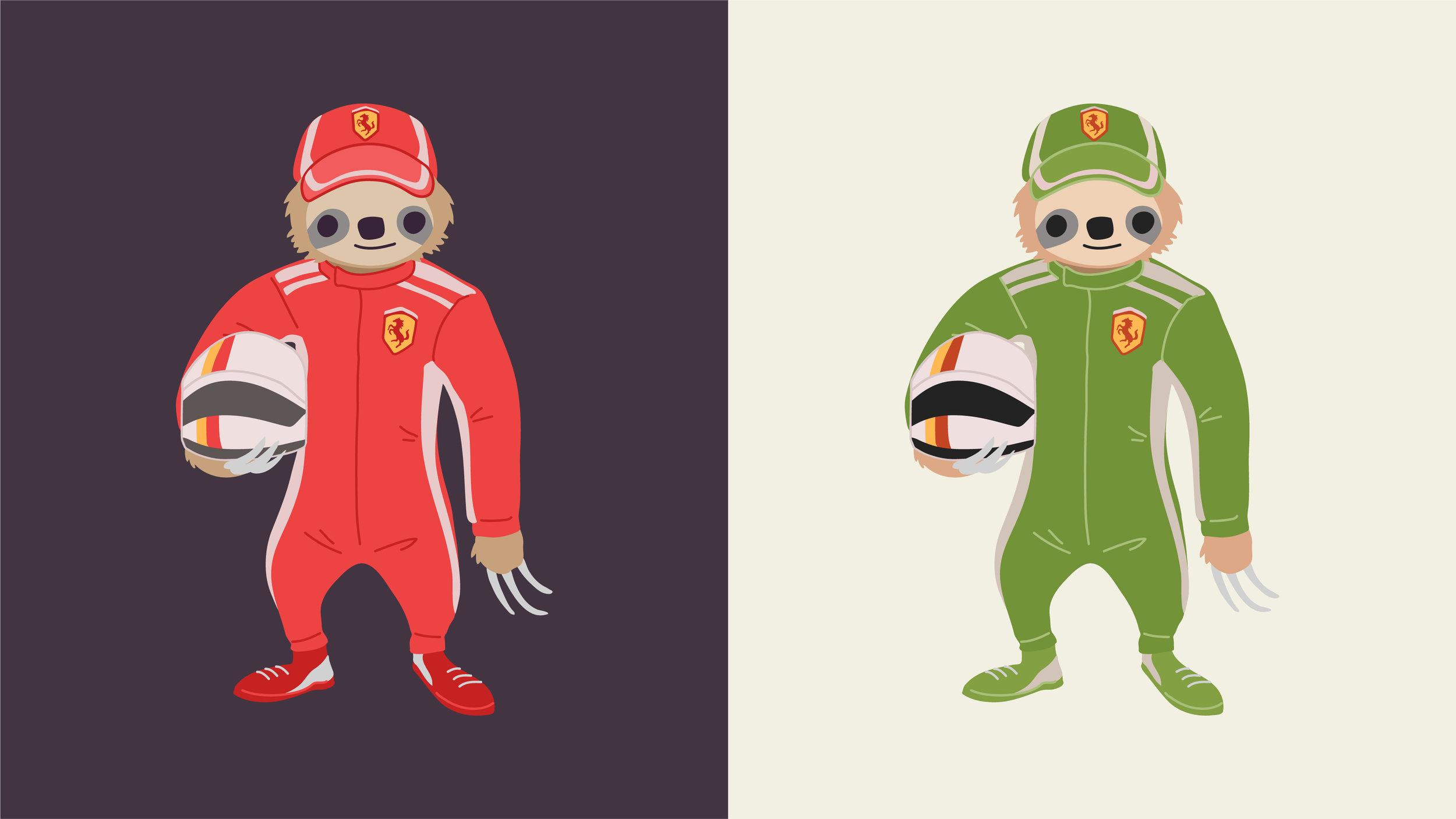 Formula 1 Racing Sloth — Follow your dreams!