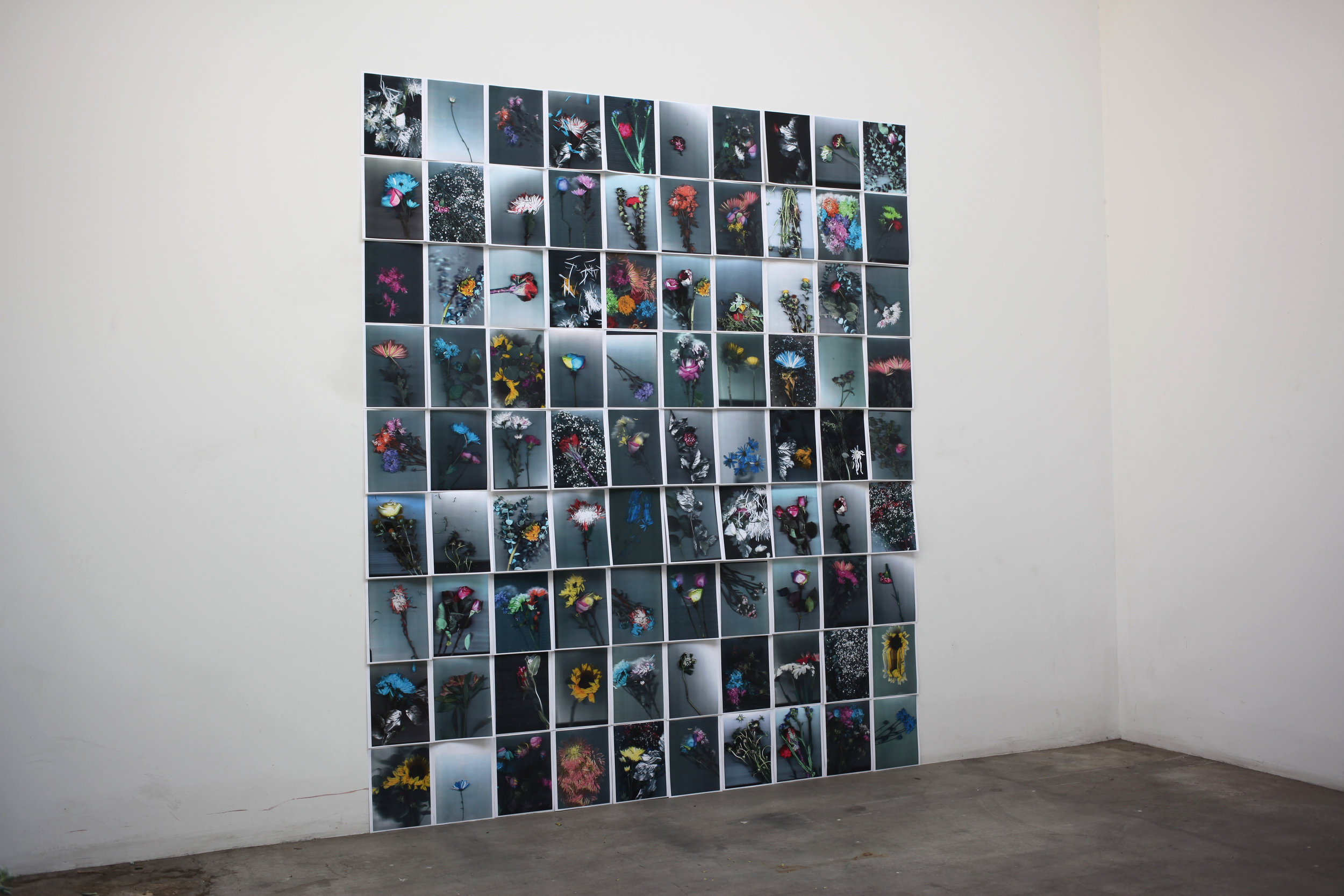 Quick   and   endless   I,  2017 Inkjet prints 99 x 80 inches
