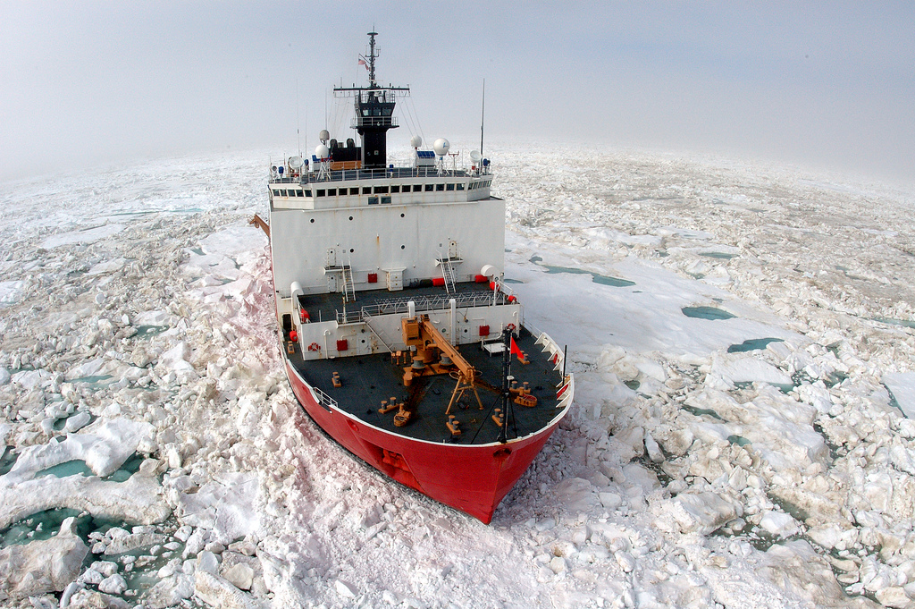 USCGC Healy Breaks Ice
