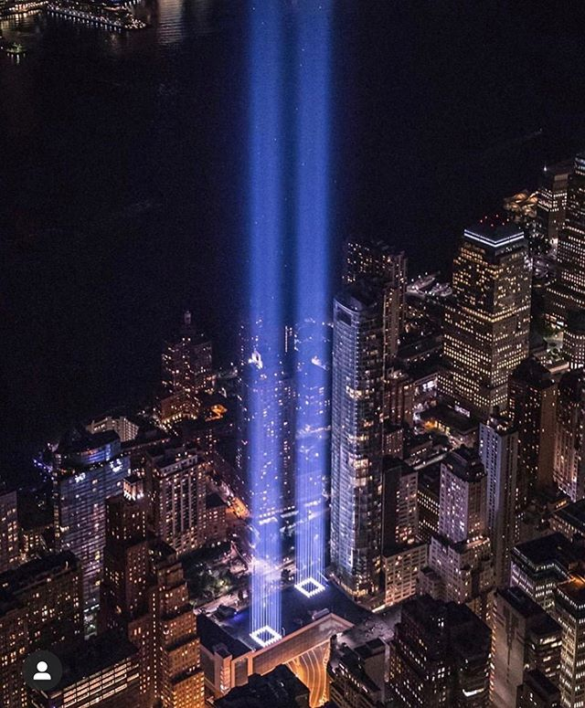 """May we always remember the lives lost, and continue to pray for those who wake up today missing their parent, child, or friend"". #911memorial #neverforget"