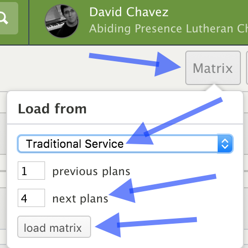 Matrix button in planning center dashboard.png