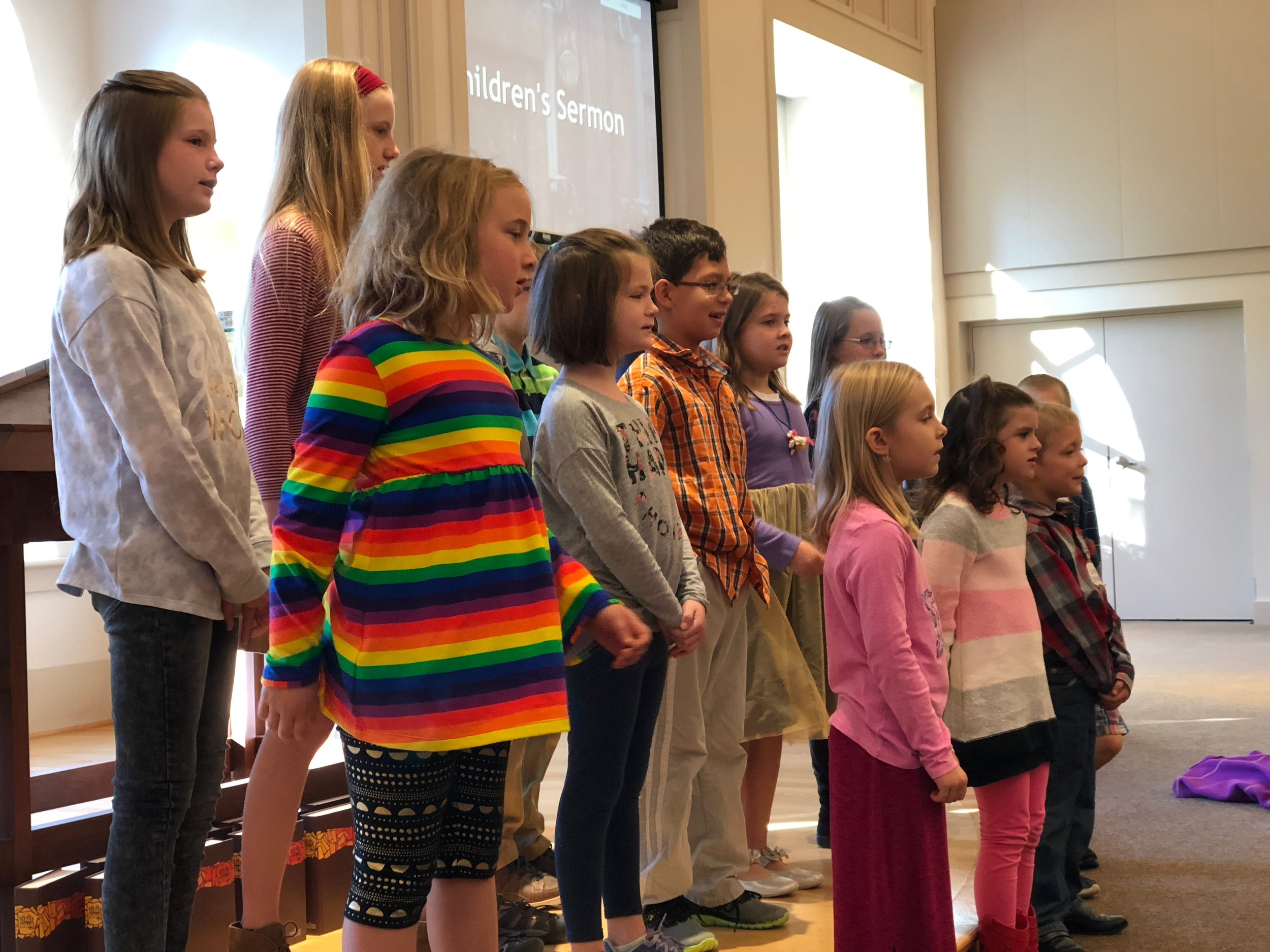 Our Children's Choirs sing regularly in worship