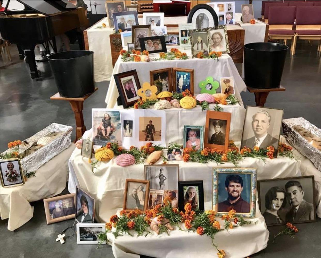 Image of a church altar on All Saints Sunday