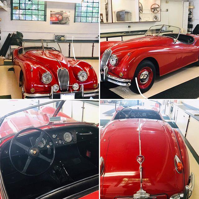 Working on this 1956 Jaguar XK 140. #jaguarxk140 #jaguarxk #jaguartoronto #jaguarservice #britishcars #classiccars #classiccarsdaily #britishcarspecialist #britishcarsdrivers #classicbritishcars #bestofbritish