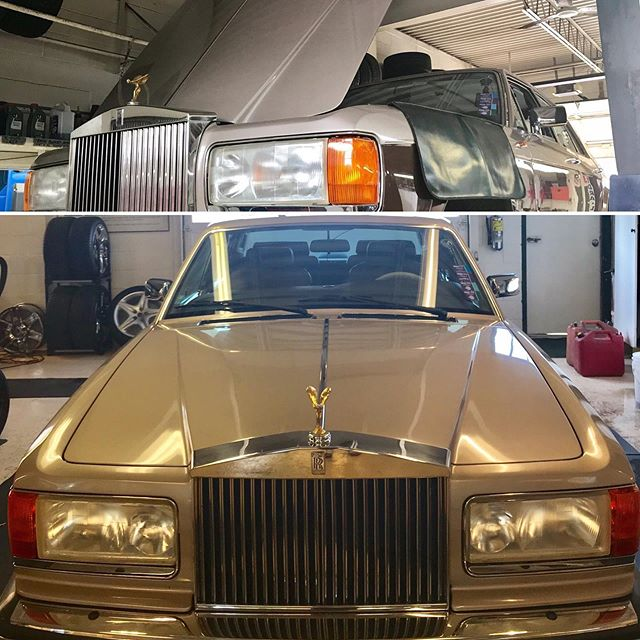 Just finished working on this 1987 Rolls Royce Silver Spirit.  #rollsroycecars #rollsroycetoronto #rollsroycecanada #rollsroycesilverspirit #1987rollsroyce #rollsroyce #rollsroyce_fan #britishcars #britishcarsdrivers #britishautomotive #dealeralternative #mechanicshoptoronto #torontomechanic