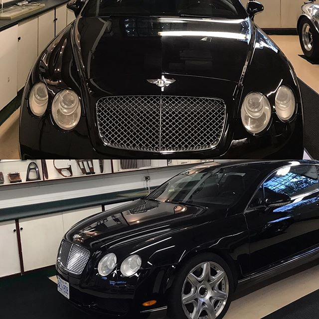 2006 Bentley continental Gt in for service.