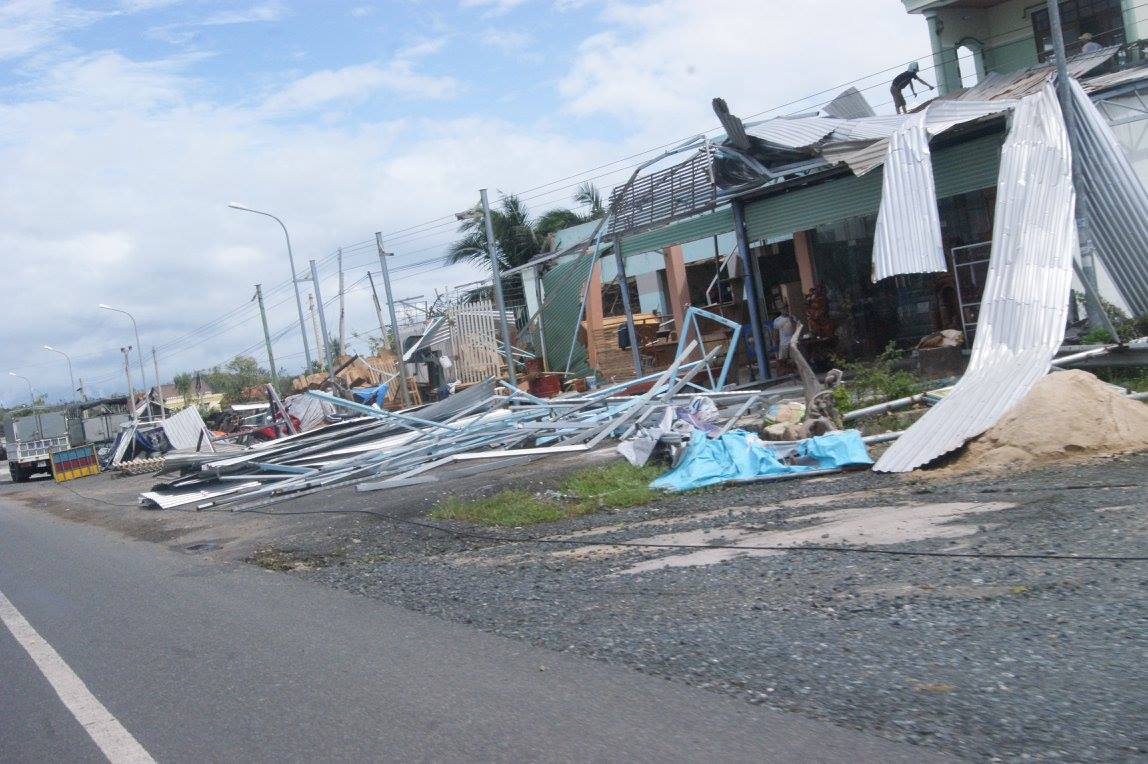 Some of the devastation caused by Typhoon Damrey.