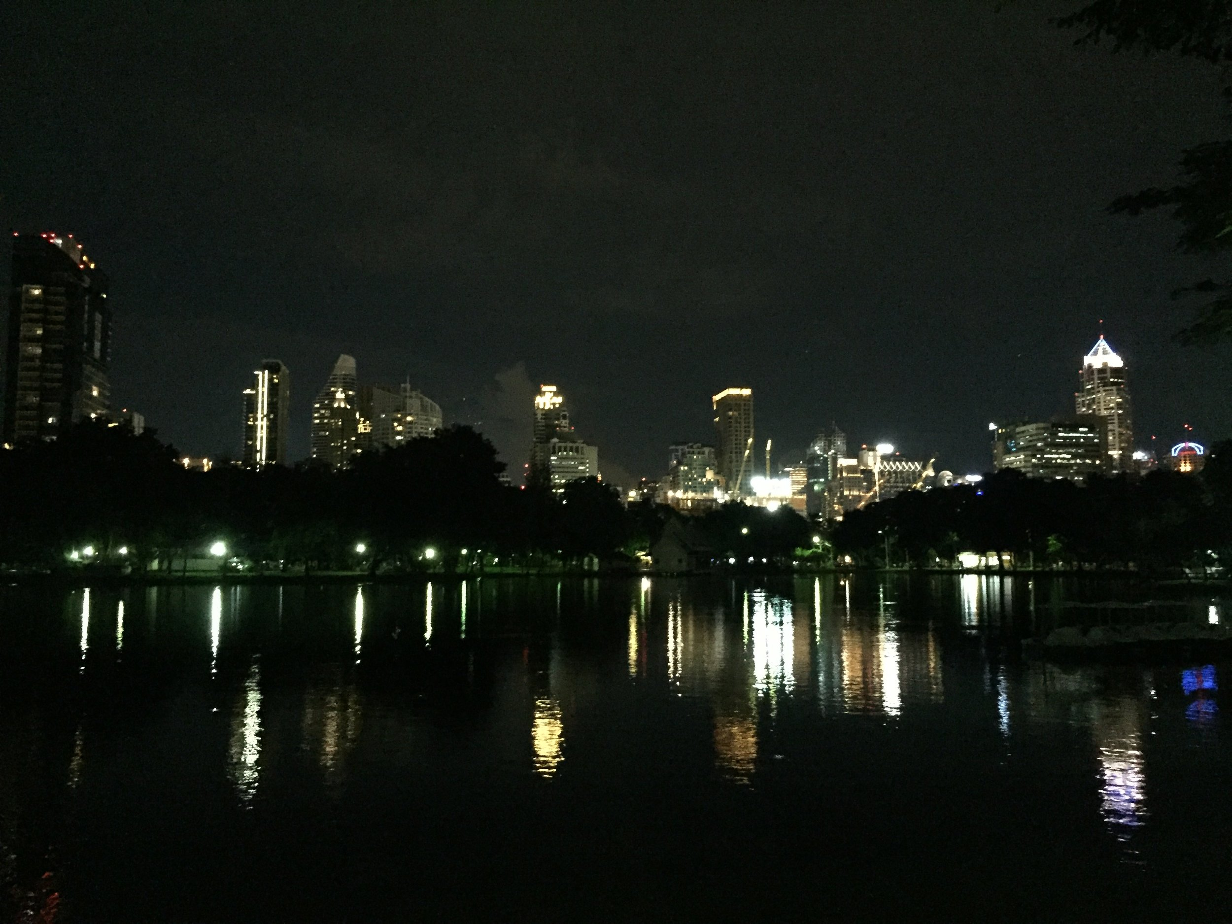 View from Lumphini Park