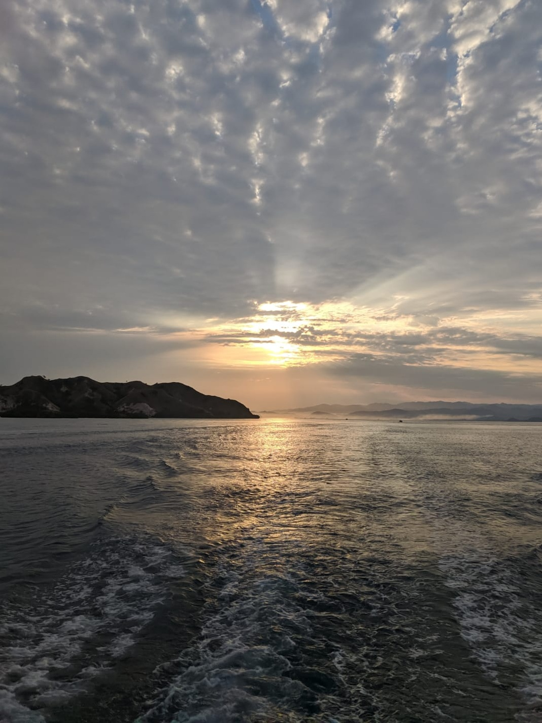 Sunrise from the boat.