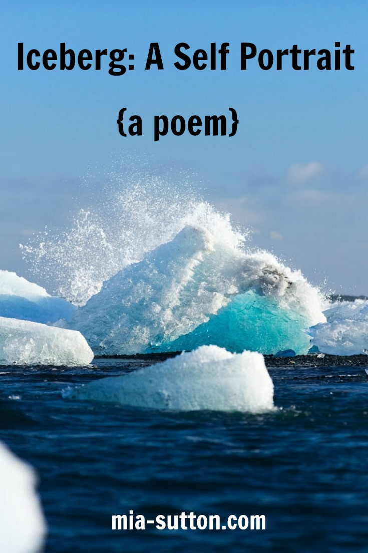 Poems about reflection | poems about ourselves | poems about our nature | icebergs | poetry | mia-sutton.com