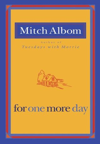For One More Day by Mitch Albom - This is the story of a mother and a son, and a relationship that covers a lifetime and beyond. It explores the question: What would you do if you could spend one more day with a lost loved one?