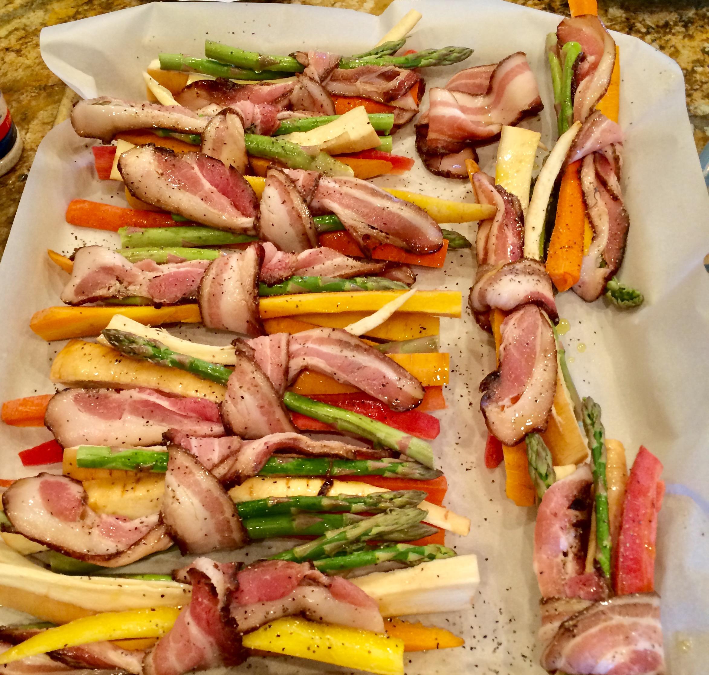 veggie bacon wraps