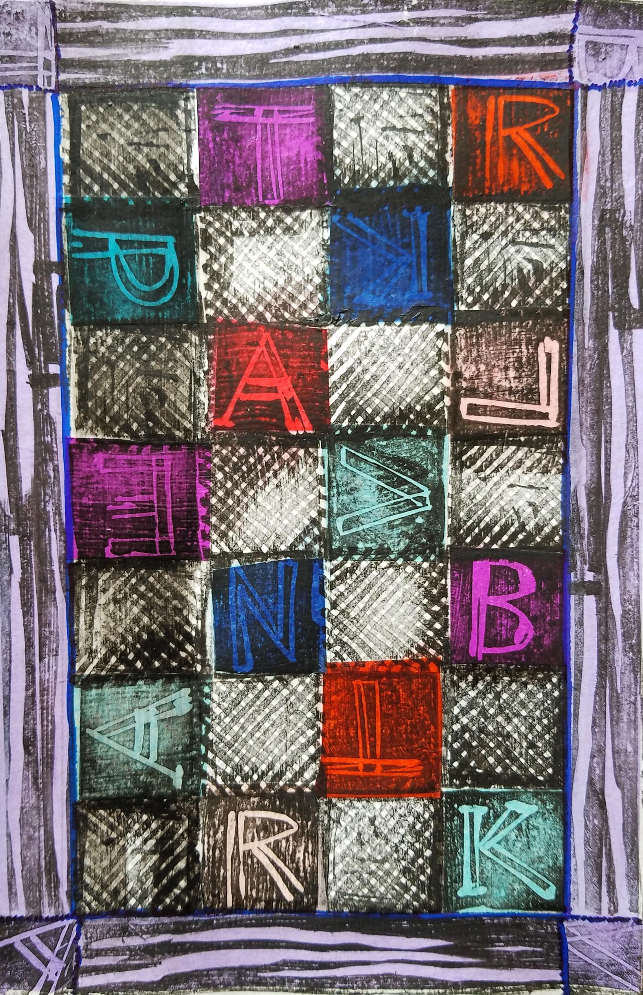 Alphabet Cloth.