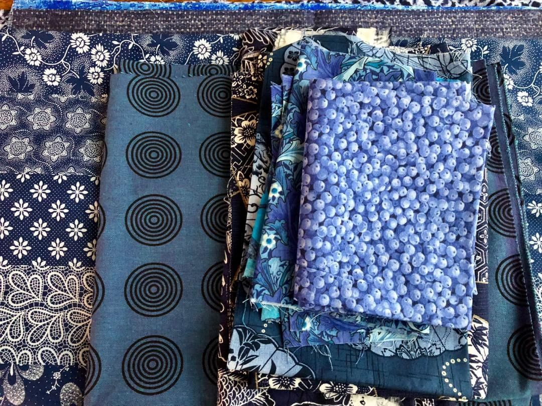 Gorgeous Fabrics in Blues.
