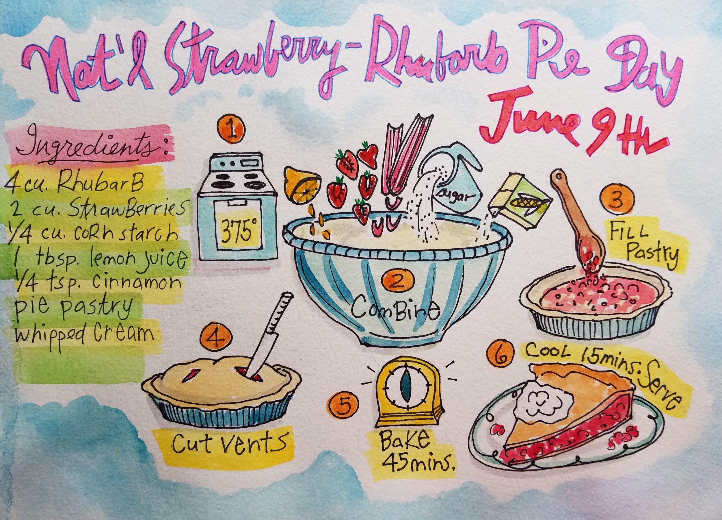 National Strawberry-Rhubarb Pie Day   !