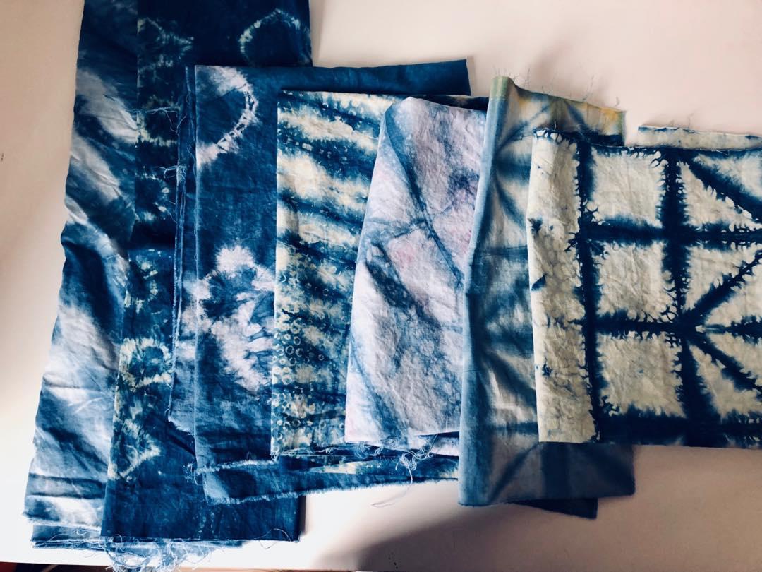 Hand Died Shibori Fabric