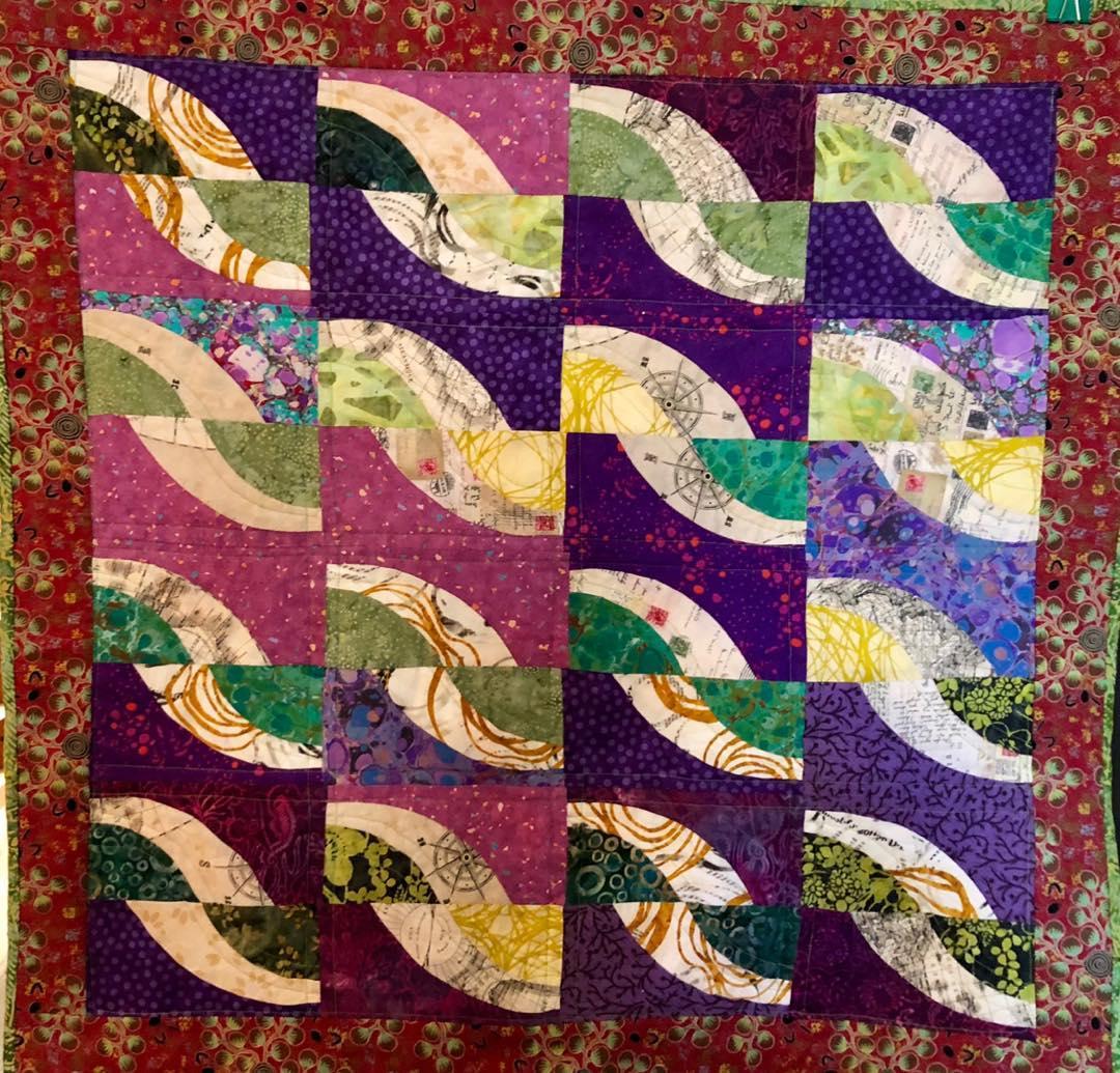 New Quilt--Purples