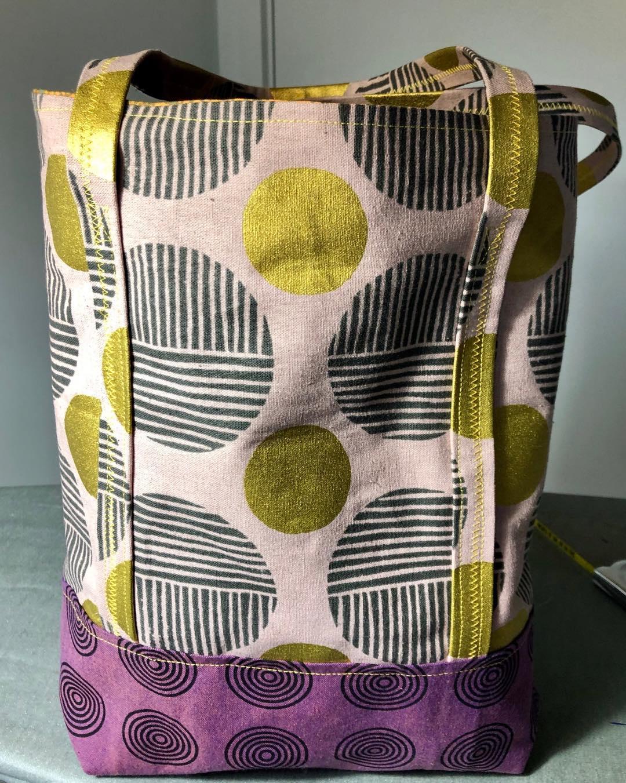 Green and Purple Circles Bag
