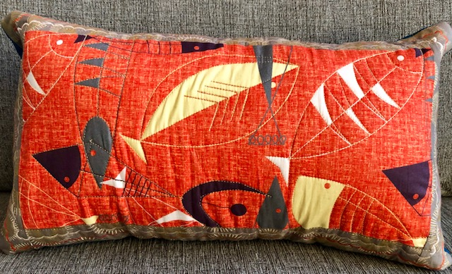Red Orange Fishes Pillow