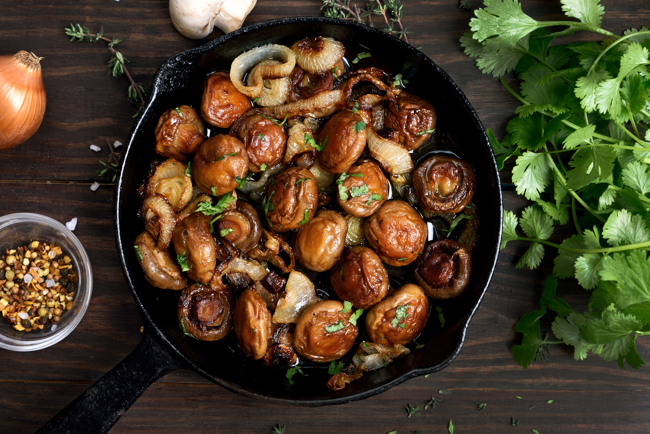 Glazed Shallots & Mushrooms