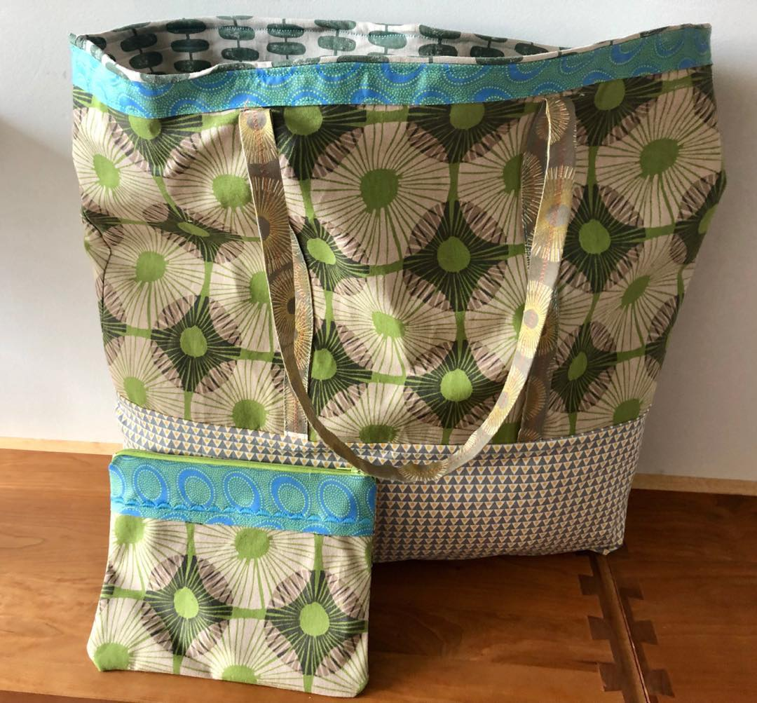 Blue & Green Daisy Bag