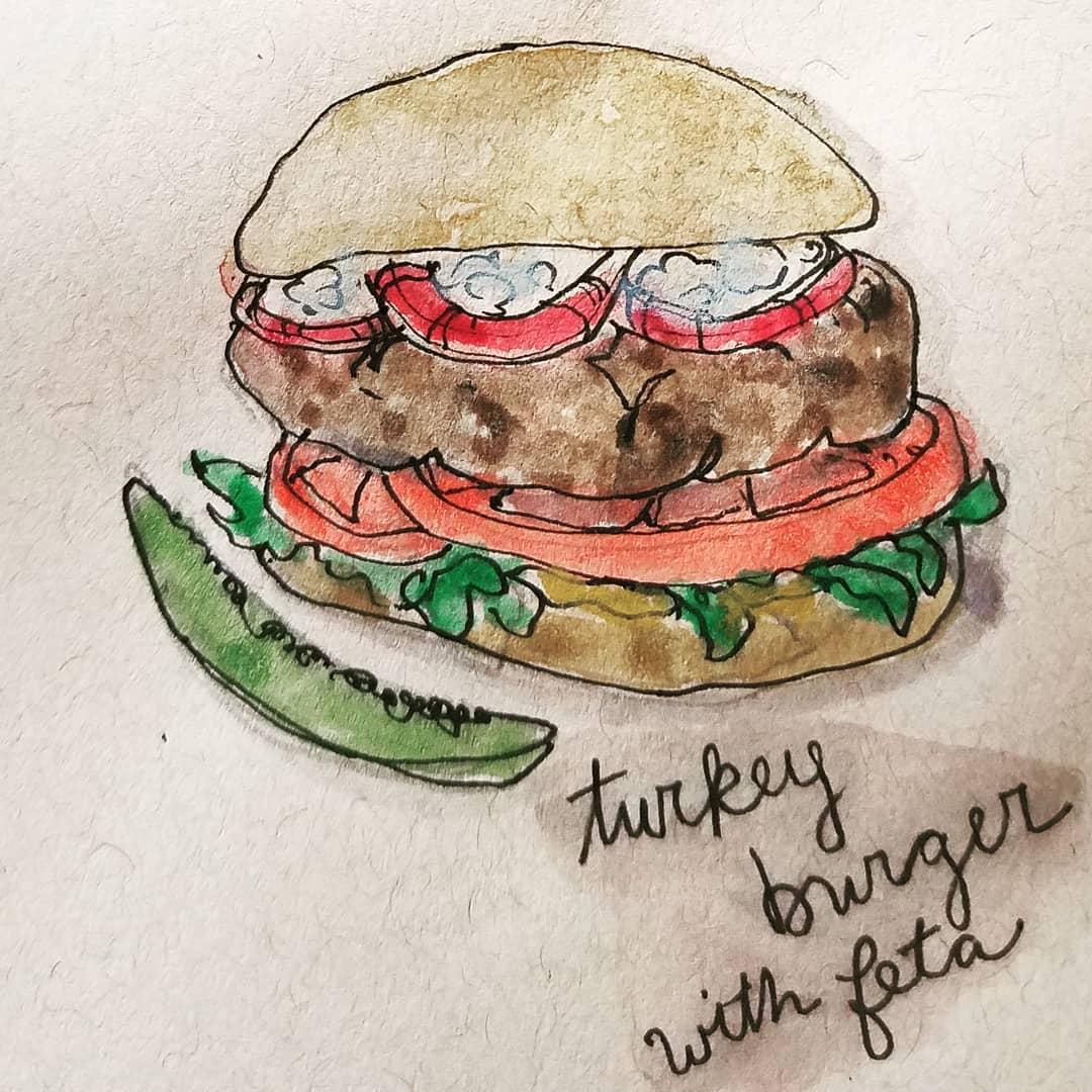 Turkey Burger with Feta