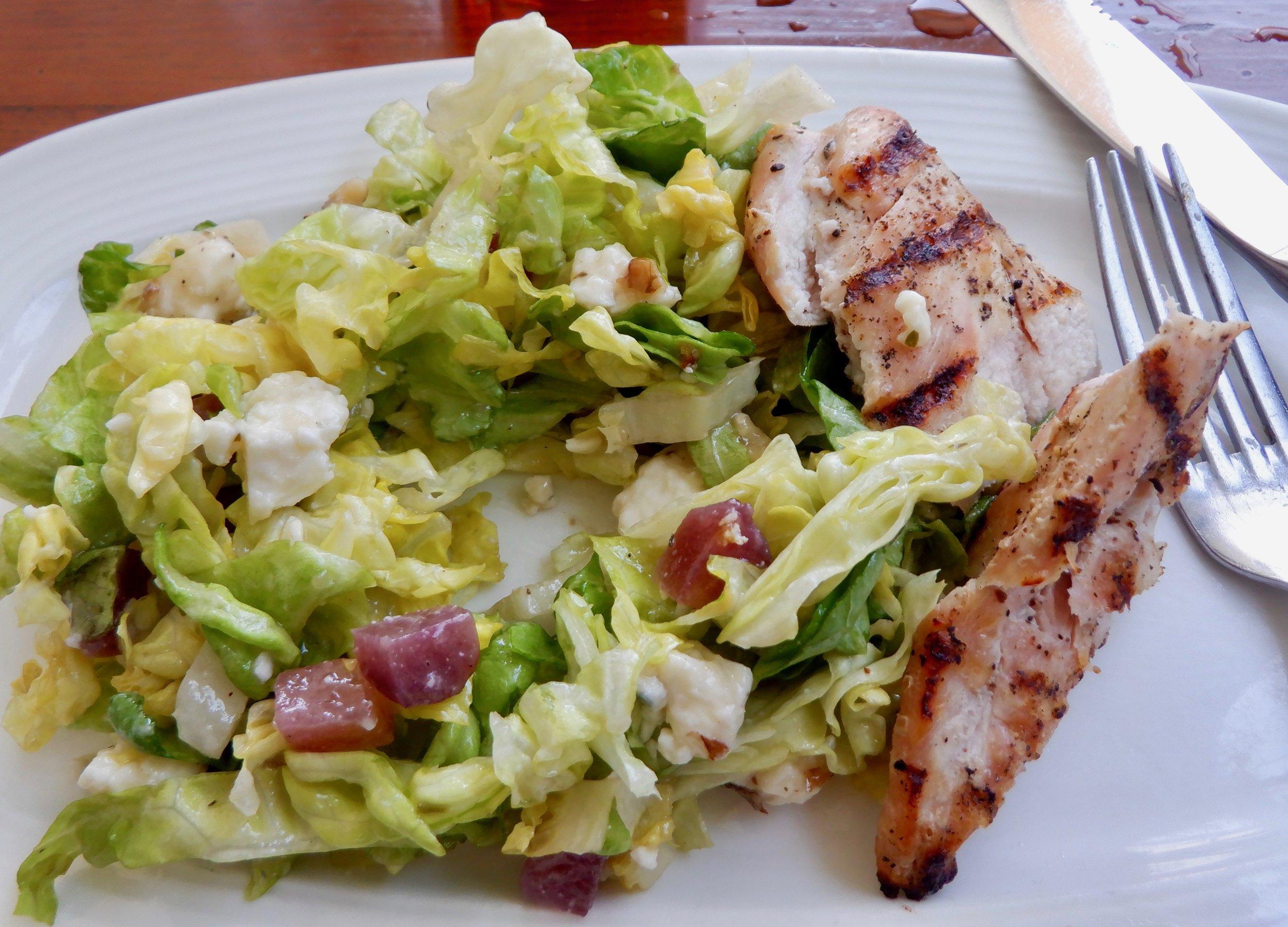 Butter Lettuce salad with grilled chicken--CRU cafe.jpg