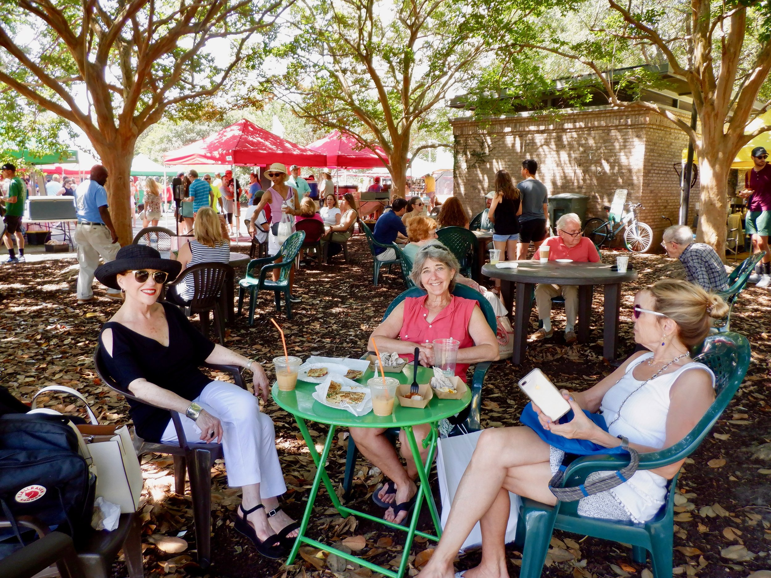 Landed a plum table in the shade at Marion Square Art Show.jpg