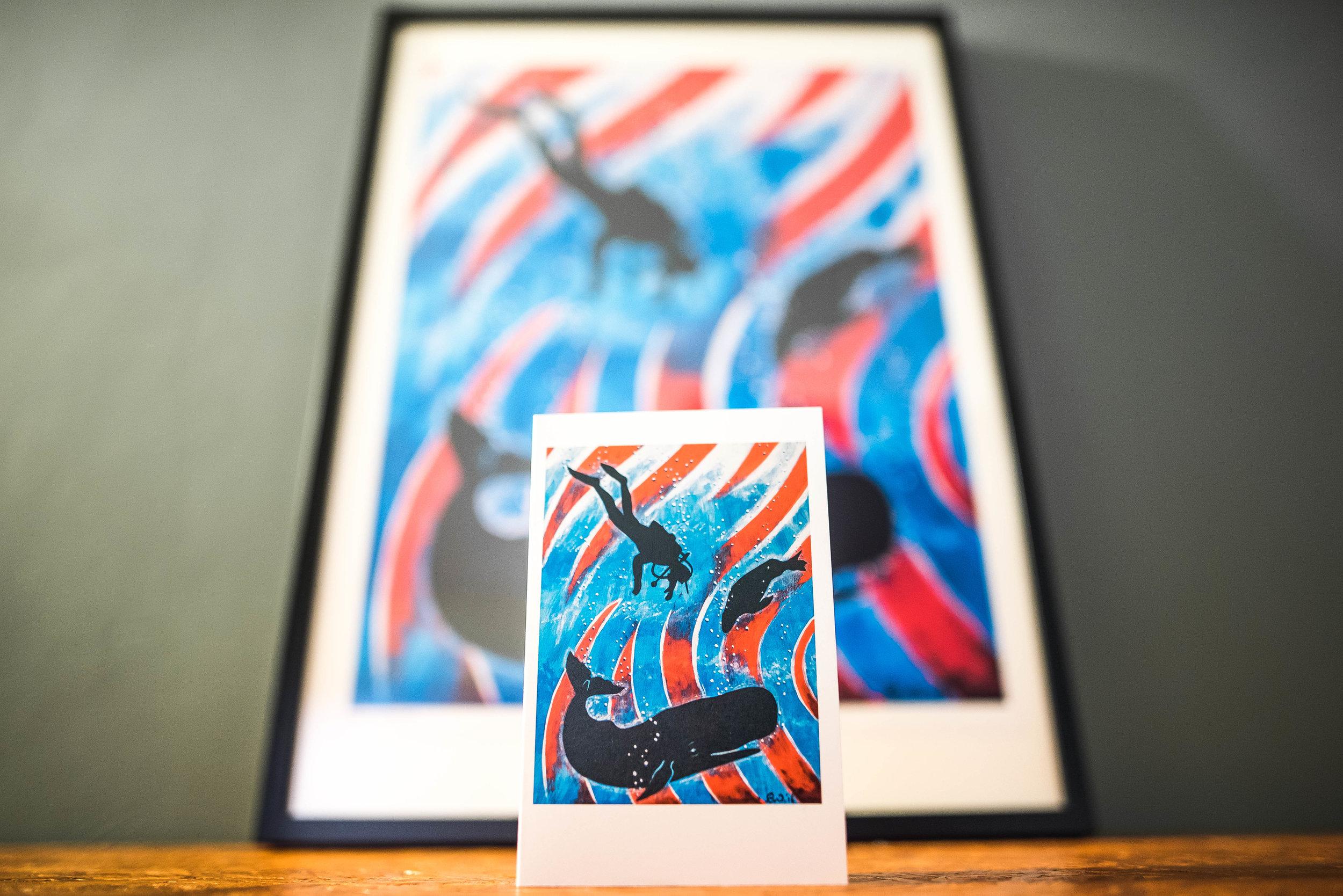 Vuurtorenschilderij Kaart en Poster