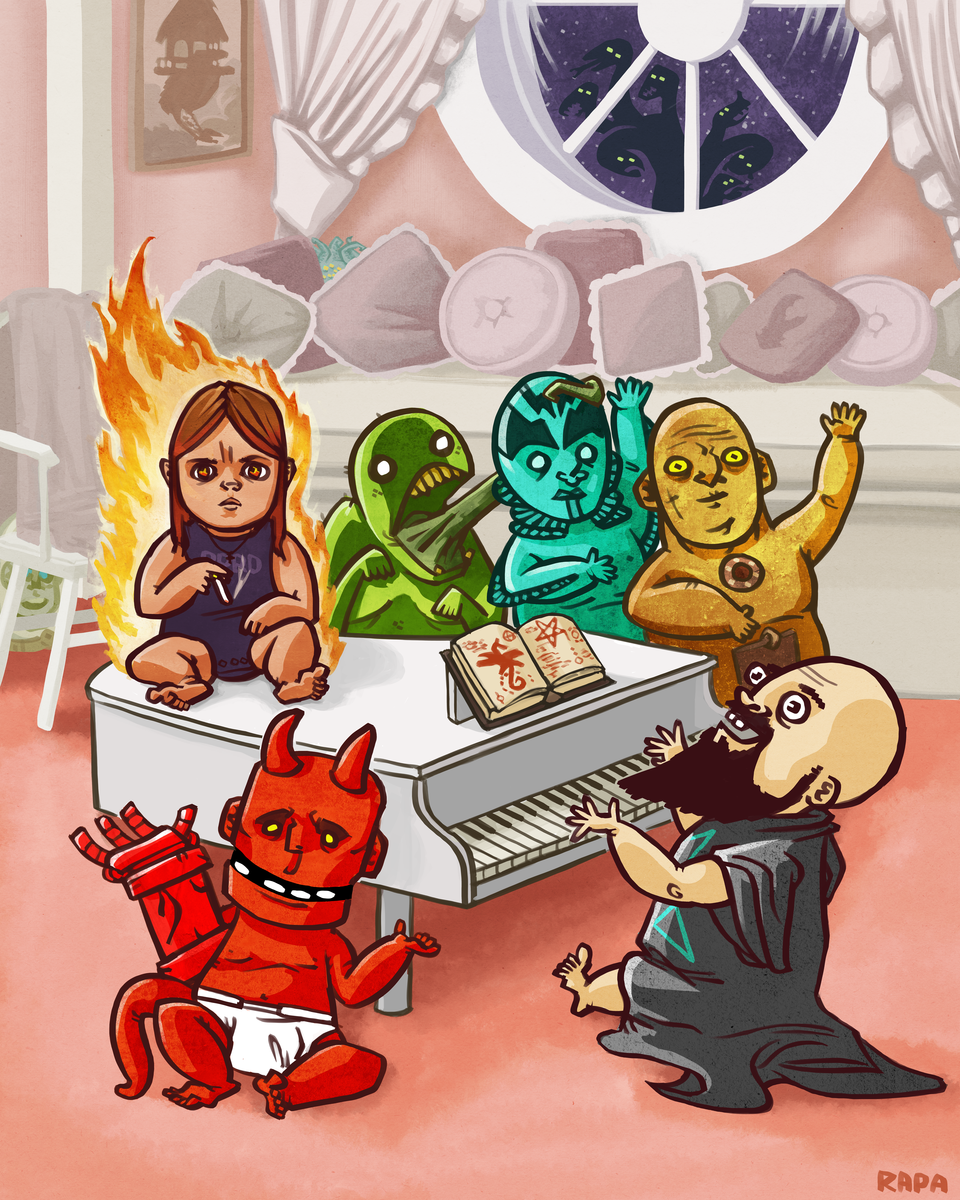 Hellboy Babies, Hellboy 20th Anniversary Official Art Show, Hero Complex Gallery